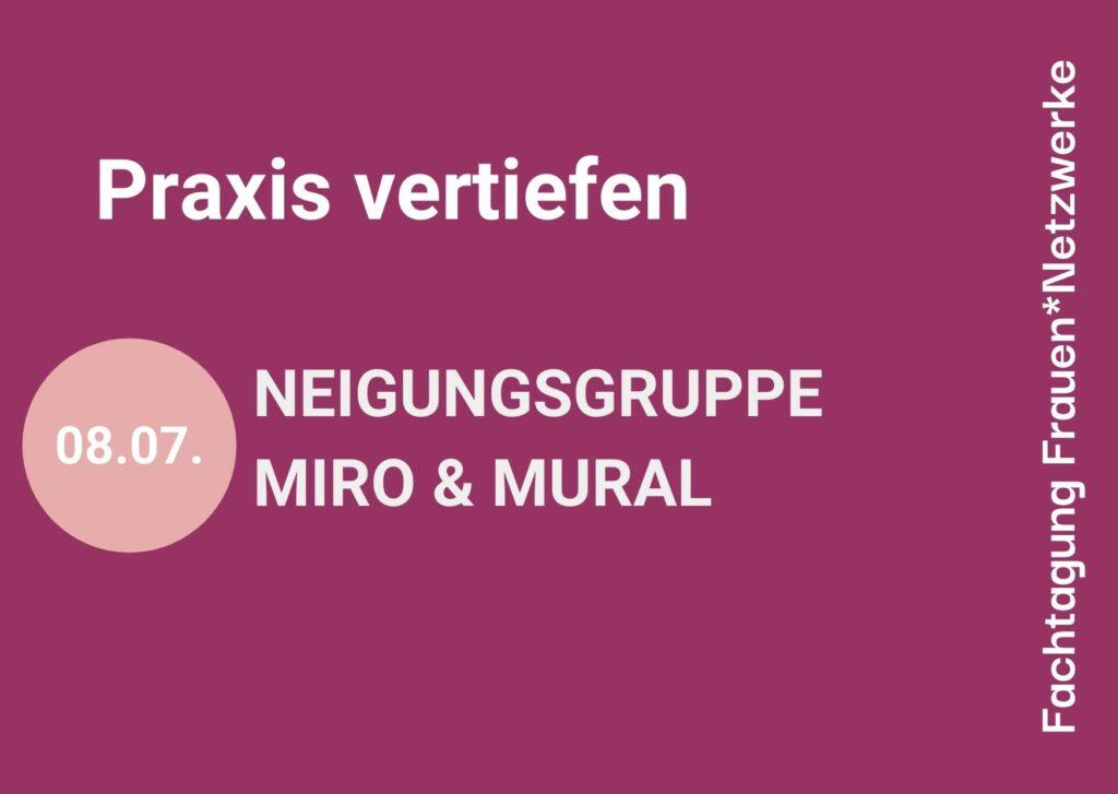 """Digitales Poster """"Praxis vertiefen"""" der Fachtagung Frauennetzwerke"""